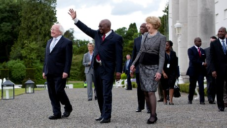 President Higgins making a visit to Mozambique in 2014, one of many links that Ireland maintains with Commonwealth countries